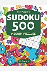Fun Puzzlers Sudoku 500: Medium Puzzles (Volume 1) (Fun Puzzlers Sudoku Books for Adults) Paperback