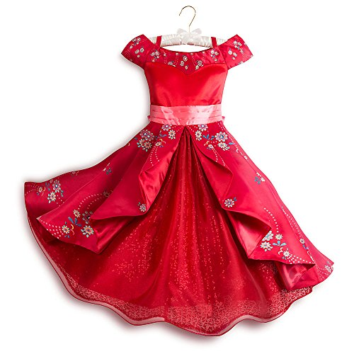 Deluxe Jewel Sparkles Girls Costumes (Disney Elena of Avalor Deluxe Costume for Kids Size 5/6 Red428411514471)