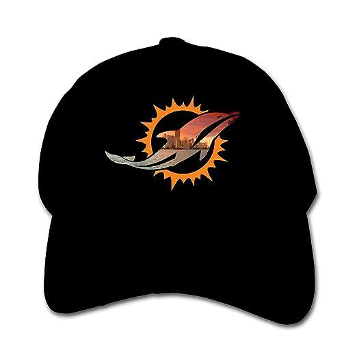 factory authentic ce071 74446 Miami Dolphins Lightweight Kids Baseball Cap Boys  Girls Adjustable Sun Hat  Black