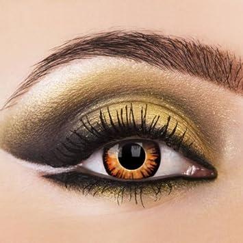 Lentes de contacto de colores de Eye Effects de color crepúsculo, naranja, hombre lobo1 par de lentillas de Halloween con depósito.: Amazon.es: Salud y cuidado personal