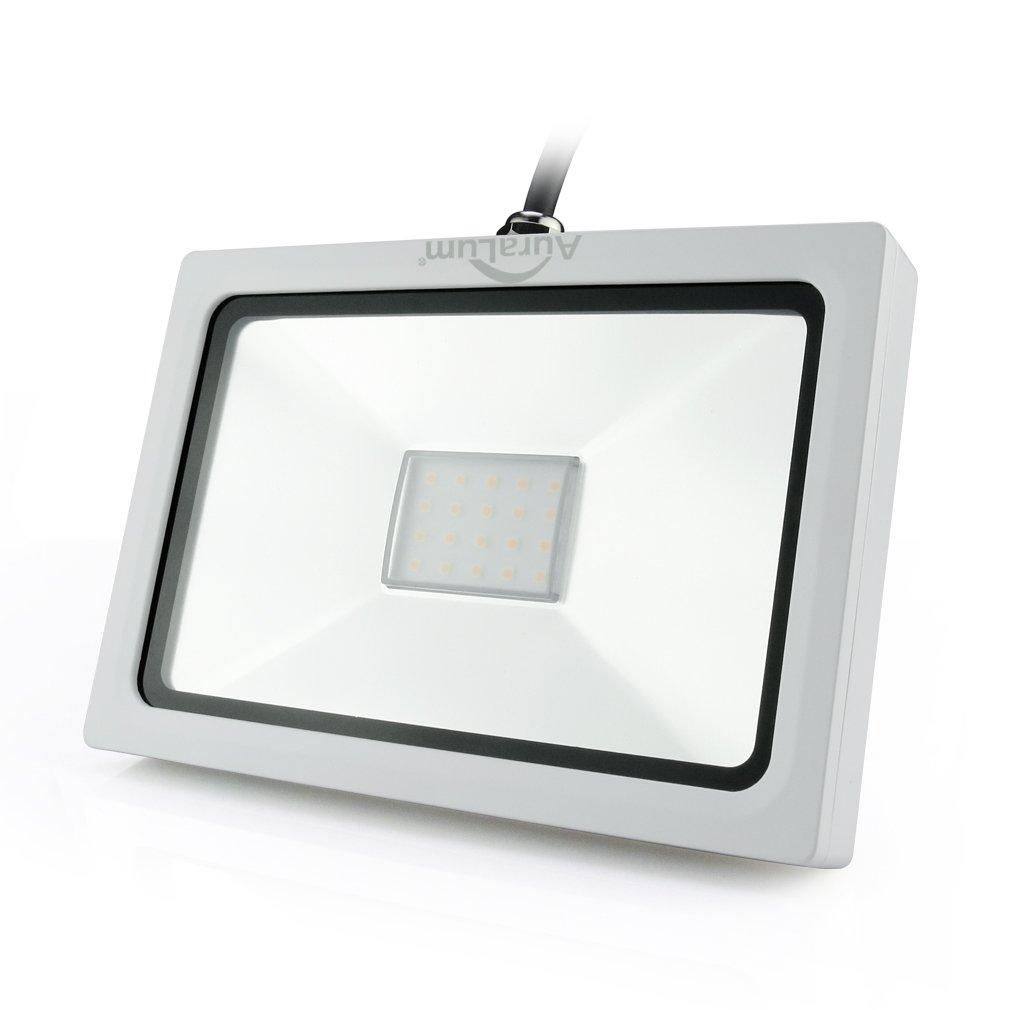 Auralum® Ultraslim 30W 230V Warmweiß LED Strahler Fluter Flutlicht 2250LM IP65 Wasserdicht Temtop