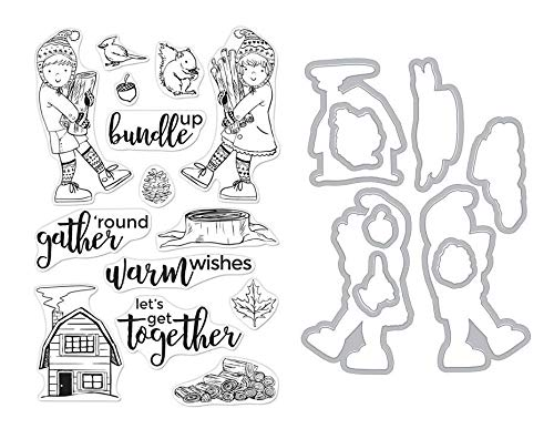 ShopForAllYou Stamping & Embossing (Stamp & Die Bundle)''Bundle UP'' Clear Stamps Only or Stamp