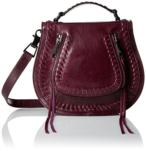 Rebecca Minkoff Small Vanity Saddle, Dark Cherry (Saddle Cherry)