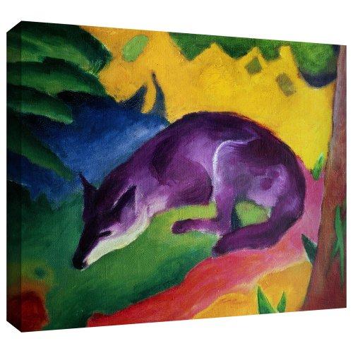 ArtWall Franz Marc 'Blue Fox' Gallery Wrapped Canvas Artwork, 36 by 48-Inch Franz Marc Deer