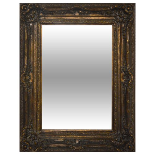 (Timeless Reflections by AFD Home 10943627 Timeless Reflections Renaissance Mirror, Burnished Gold Finish)