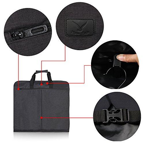 Hynes Eagle 45 inch Portable Garment Bag Hanging Travel Foldable Suit Bag Black by Hynes Eagle (Image #5)