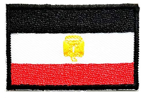 Mini National Emblem Egypt Flag Patch Embroidered Military Tactical Flag Patches Badge Repair Patches for Hats, Jackets, Shirts, Vests, Shoes, Jeans
