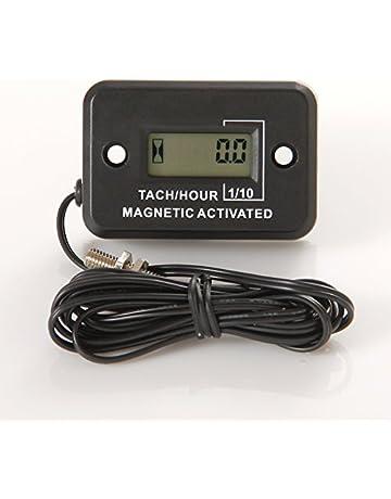 Runleader RL-HM012C Medidor de horas inductivo con tacómetro para todo motor de gasolina motos