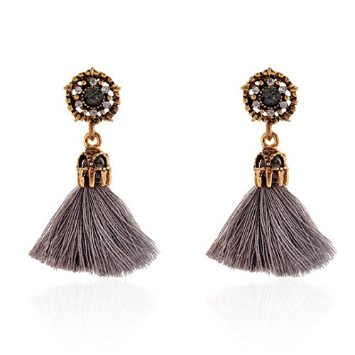 DZT1968 Women Girl Vintage hollow Crystal Tassel