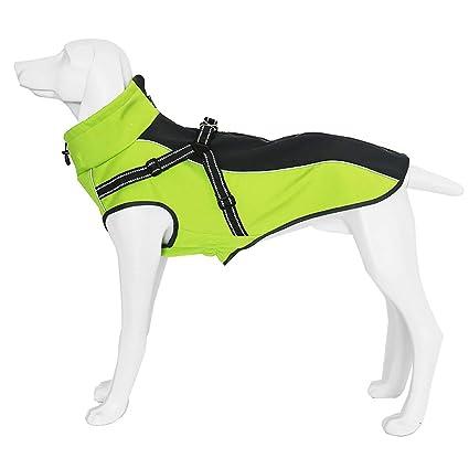 GAONAH Capa del Perro Chaqueta Impermeable para Mascotas Perros Invierno Cálido Abrigos para La Lluvia Seguridad