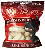 Akc Beefhide Donuts - 10 Pack - Medium (3.5