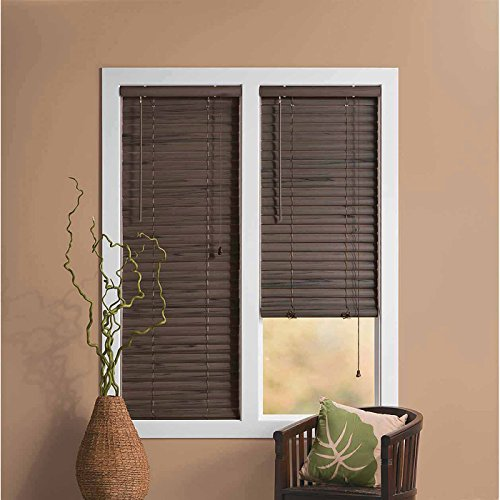 Achim Home Furnishings Luna 2-Inch Vinyl Blind, 31 by 64-Inch, Mahogany
