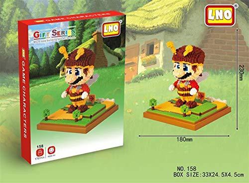 Super Mario Building Block Set ca.9, 05 inch Bee-Mario THTB