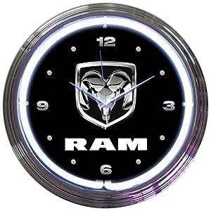 Amazoncom Neonetics RAM Neon Wall Clock 15Inch Home Kitchen