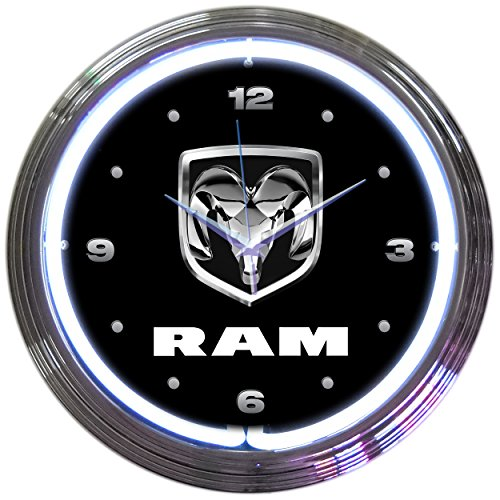 Neonetics RAM Neon Wall Clock, 15-Inch