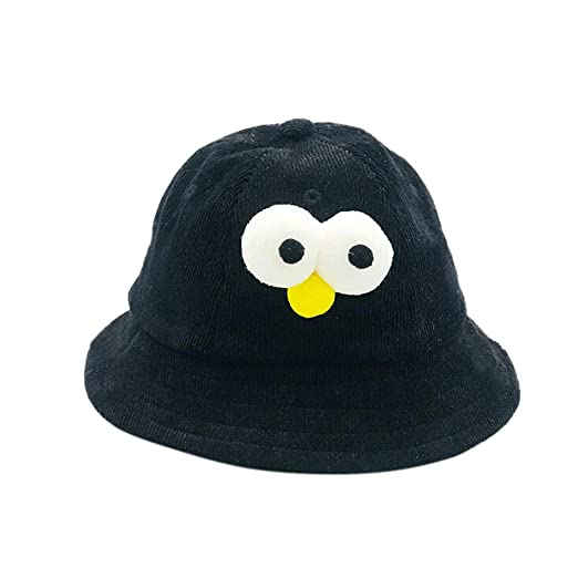 Toddler Boys Sun Protection Cap Cartoon Fisherman Bucket Hat for Kids Sun  Hat (Black) c2a547103be7