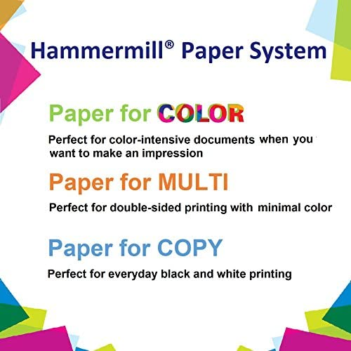 Hammermill Printer Paper, 20 lb Tidal Copy Paper, 3 Hole - 10 Ream (5,000 Sheets) - 92 Bright, Made in the United States