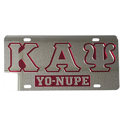 Desert Cactus Kappa Alpha Psi License Plate Car Tag For Front Back of Car Divine 9 Nupe (Car Tag - 7606) (Merchandise Alpha)