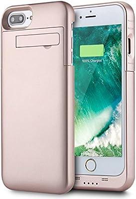 Funda Batería iPhone 7 Plus / iPhone 8 Plus (5.5 Inch), PEMOTech 4000mAh Portátil Externa Recargable Batería Cargador Protector Estuche de Carga Para ...