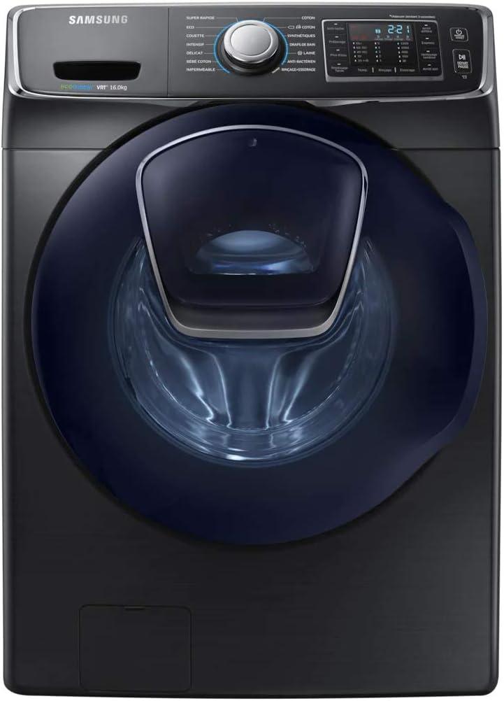 Lavadora con ventana de 16 kg Samsung WF16J6500EV – Lavadora Frontal – Centrifugado 1200 rpm – Inicio diferido – Visualización del tiempo restante – 74 dB – Colocación libre – Clase energética A++