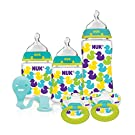 NUK Fashion Confetti Ducks Orthodontic Bottle and Pacifier Gift Starter Set
