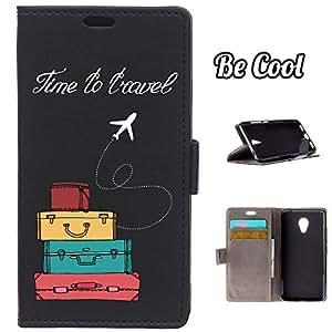BeCool® - Funda carcasa tipo Libro para Meizu M3 protege tu Smartphone ya que se adapta a la perfección, tiene Función Soporte, ranuras para tus tarjetas y billetes sin olvidar nuestro exclusivo diseño