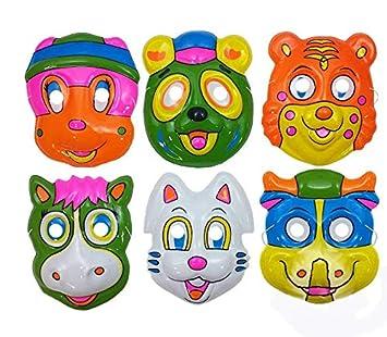 Lote/Conjunto DE 12 Piezas - Animales del Casco Máscara de Mezcla 7-Infantil