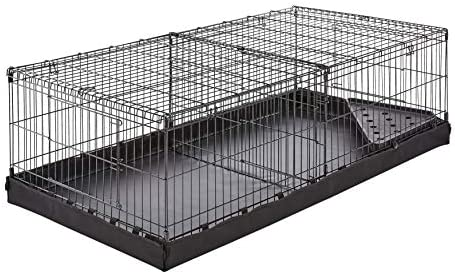 AmazonBasics - Juego de jaula para mascotas con fondo de lona y ...