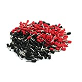 18 AWG Cable E1008 Red Black Pre Insulating Ferrules Connectors 380Pcs