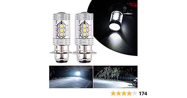 2Pcs 80W Super White LED Headlights Bulbs Upgrade Yamaha ATVS YFM350 400 450 660 700 Raptor Blaster 200 Banshee 350