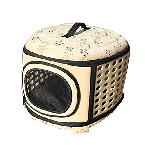 Hard Sided Pet Carriers Pet Houses Cats or Dogs Out Portable Cages (Yellow)
