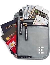 Neck Wallet w/RFID Blocking- Concealed Travel Pouch & Passport Holder