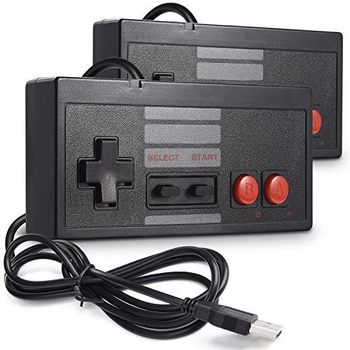2 Pack Classic USB Controller for NES Gaming, miadore PC USB Controller Retro Game Pad Joystick Raspberry Pi Controller for Windows PC Mac Linux RetroPie NES Emulators ()