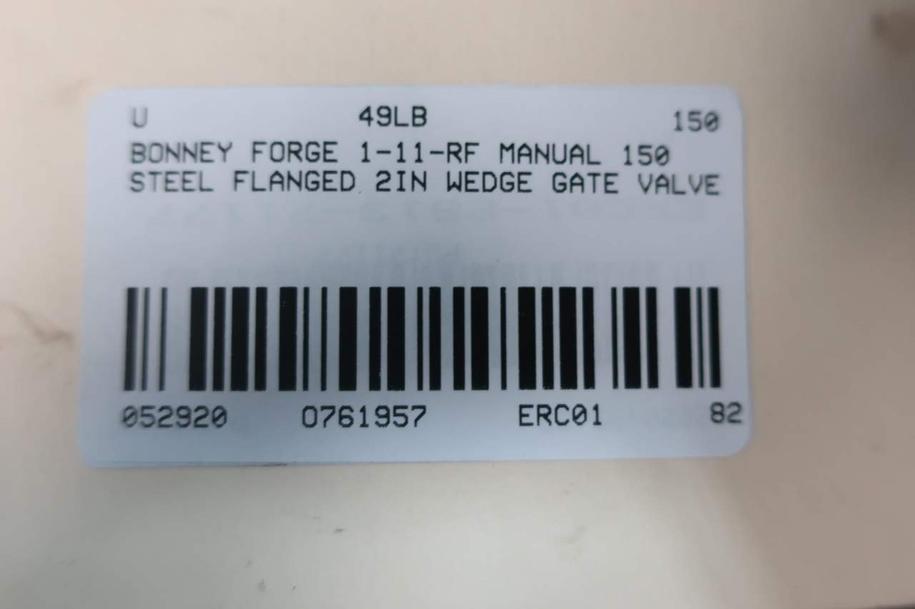 BONNEY FORGE 1-11-RF Manual Steel FLANGED Wedge GATE Valve 2IN 150