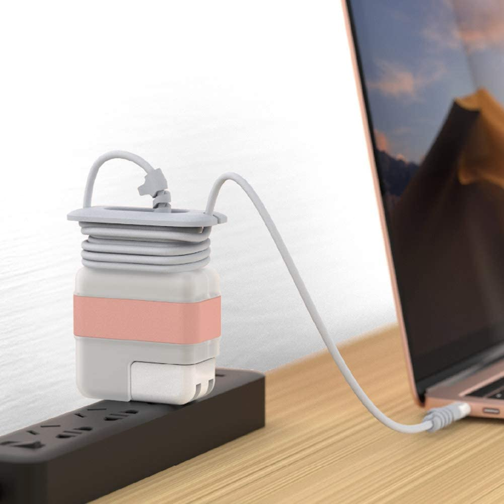 Cord Winder for New MacBook Retina Charger Power Adapter 30W 29W Magsafe Charging Cable Management MacBook Air Accessories 12 13 Inch Golden Travel Cord Organizer for MacBook Air Charger