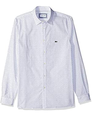 Men's Long Sleeve Slim Fit Blue Pack AOP Button Down,