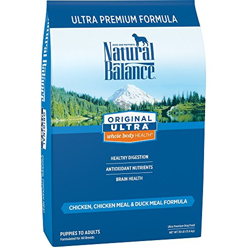 Natural Balance Original Ultra Whole Body Health Dry Dog Food, Chicken, Chicken Meal, Duck Meal Formula, 30-Pound by Natural Balance