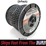(2-Pack) Echo Black Diamond .095# 330095073, Commercial Trimmer Line 3-Lbs. Medium Spool 885 Feet