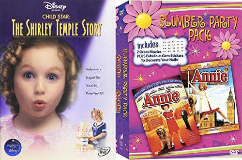 Slumber Party 3-Movie Musical Pack: Child Star - The Shirley Temple Story, Annie & Annie: A Royal Adventure Bundle