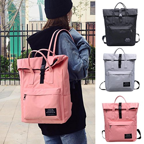 Nylon Bag Black Women Bag Tote Satchel Pure Black Shoulder School Shoulder Bag Fashion Backpack Color Durable Retro Purse qfTSOXxw