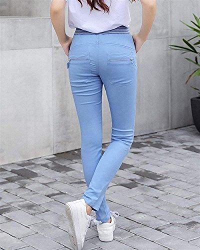 Fit Lunghe Donna Libero Swag Matita Vita Pantaloni Dritti Blau Tendenza Streetwear Tempo Pantaloni Elegante Moda Primaverile Elasticachic Slim Coulisse Pantaloni Autunno Lounayy fE6wX5qX