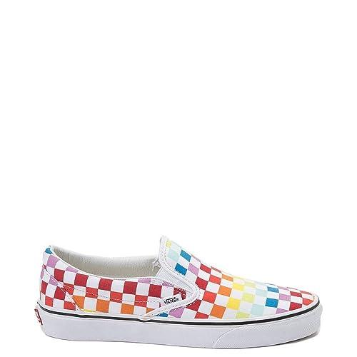 rainbow vans slip on