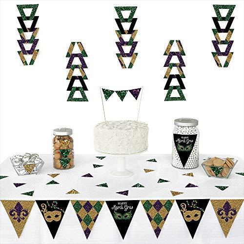 Mardi Gras - Triangle Masquerade Party Decoration Kit - 72 -