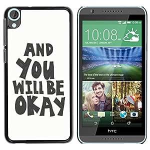 Dragon Case - FOR HTC Desire 820 - you will be okey - Caja protectora de pl??stico duro de la cubierta Dise?¡Ào Slim Fit