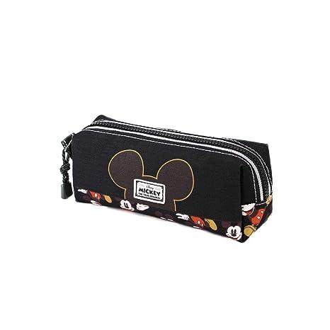 Karactermania Mickey Mouse True-Estuche Portatodo Cuadrado Estuches, 22 cm, Negro