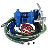 ZENY 20GPM Gasoline Fuel Transfer Pump 2600 RPM Speed 12 Volt DC Gas Diesel Kerosene Nozzle Kit W/ Hose (#01)