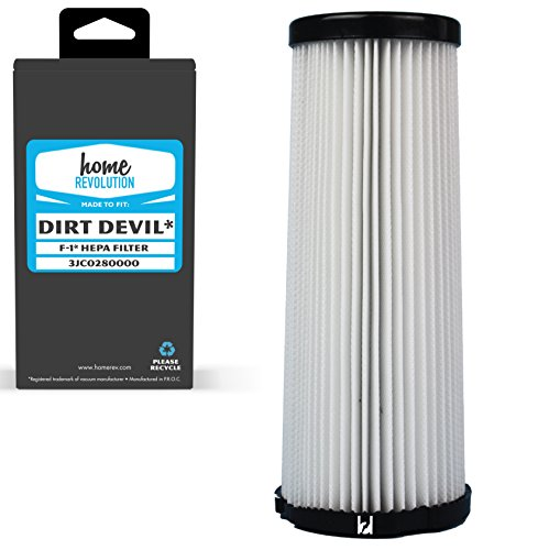Home Revolution Replacement HEPA Filter, Fits Dirt Devil F1 Part 3JC0280000 for Breeze, Scorpion, Vision & Featherlite Upright Bagless Vacuum Models -