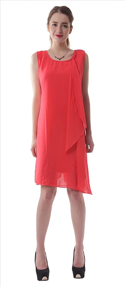 Work Skater Dress Red Zohya Womens Summer// Casual