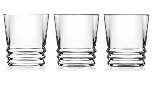 LAV vasos de whisky de 10.75 onzas, colección elegante, parte ...