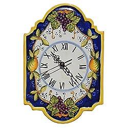 Italian Ceramic Wall Clock Grapes - Fratelli Mari